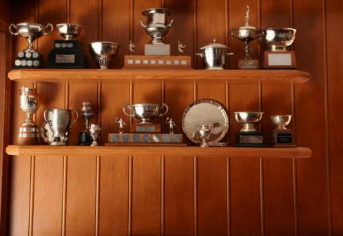 Award「Trophies Lined Up On Display Shelf」:スマホ壁紙(8)