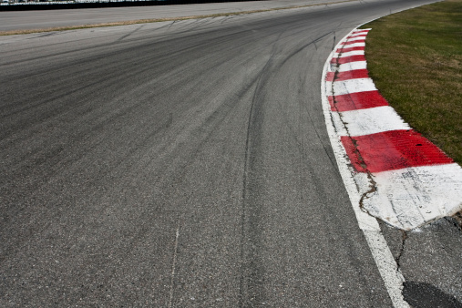 Motorsport「Corner on a car race track」:スマホ壁紙(0)