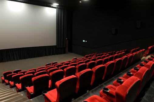 Projection Screen「Empty red seats in a movie theater」:スマホ壁紙(11)