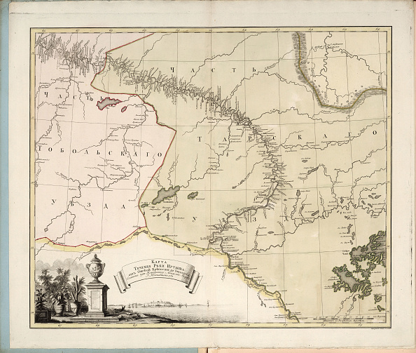 Etching「Map Of The Flow Of The Irtysh River From Omsk Fortress Into Tobolsk」:写真・画像(15)[壁紙.com]