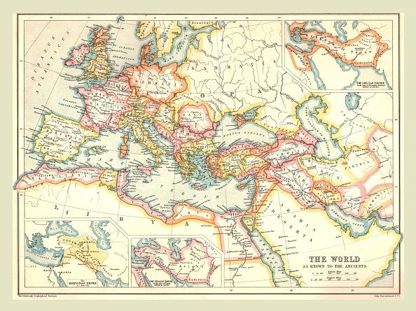 Mediterranean Sea「Map Of The Ancient World」:写真・画像(5)[壁紙.com]
