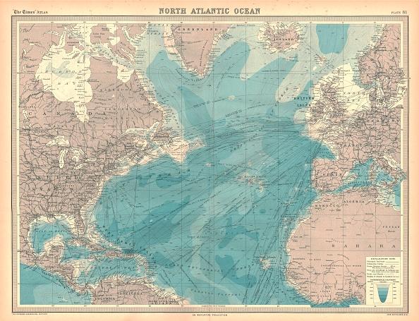 North Atlantic Ocean「Map Of The North Atlantic Ocean Artist Unknown」:写真・画像(2)[壁紙.com]