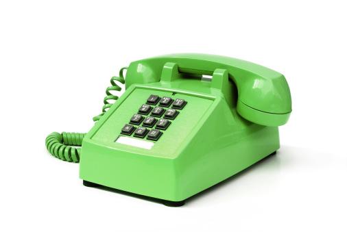1980-1989「Funky green vintage pushbutton phone」:スマホ壁紙(18)