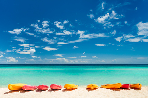 Caribbean「Colorful boats at the beach in the Caribbean」:スマホ壁紙(0)