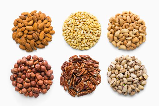 Nut - Food「Six piles of nuts」:スマホ壁紙(14)