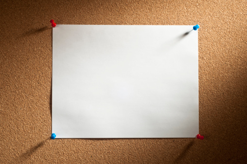 Adhesive Note「Cork with Blank Paper」:スマホ壁紙(10)