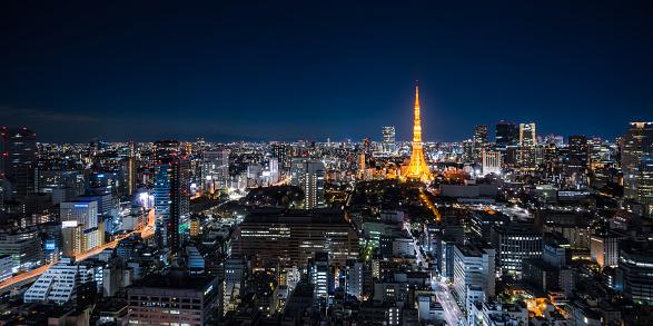 Tokyo Tower「Panorama of Tokyo at Night」:スマホ壁紙(13)