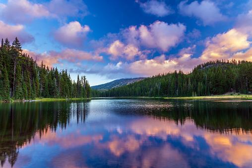 Blurred Motion「Mt Bachelor reflecting in Todd Lake Bend, Oregon」:スマホ壁紙(7)