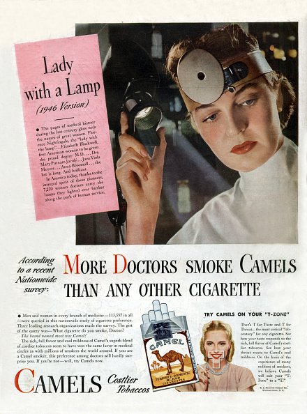 Cigarette「More doctors smoke camels than any other cigarette, advertisement for cigarettes in 1946」:写真・画像(9)[壁紙.com]