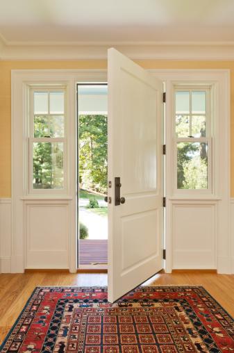 Front Door「Open front door of custom bulit home」:スマホ壁紙(16)