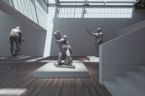 Sculpture「Museum exhibition with ancient sculptures」:スマホ壁紙(4)