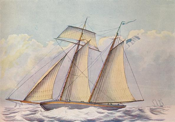 Overcast「'American Topsail Schooner', 1825」:写真・画像(5)[壁紙.com]