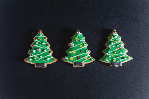 Biscuit「Pastry, Christmas trees decorated with sugar icing」:スマホ壁紙(8)