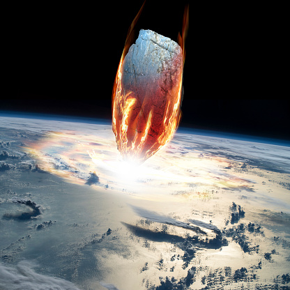 Digital Composite「A massive asteroid enters Earths atmosphere and impacts the planet.」:スマホ壁紙(17)