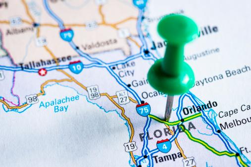 Florida - US State「USA states on map: Florida」:スマホ壁紙(2)