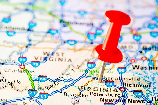 Virginia - US State「USA states on map: Virginia」:スマホ壁紙(4)
