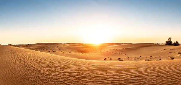 Dubai「Desert in the United Arab Emirates at sunset」:スマホ壁紙(3)