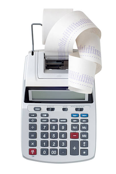 Printing calculator with a lot of paper coming out:スマホ壁紙(壁紙.com)