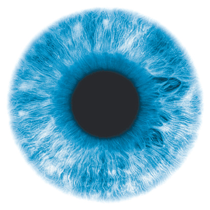 Iris - Eye「Eye, negative image, with blue-green iris」:スマホ壁紙(9)