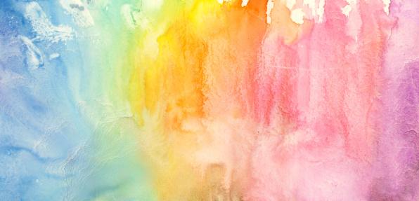 Luck「Watercolor rainbow painting」:スマホ壁紙(13)