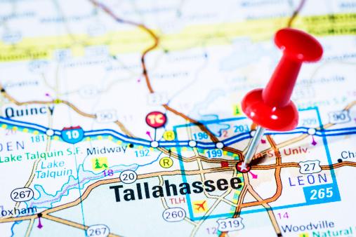 Florida - US State「US capital cities on map series: Tallahassee, Florida, FL」:スマホ壁紙(3)