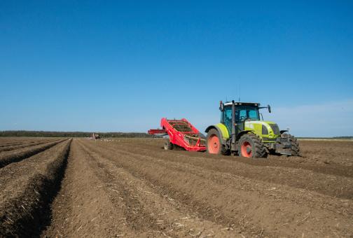 Norfolk - England「Potato planting by machine, Norfolk UK」:スマホ壁紙(10)