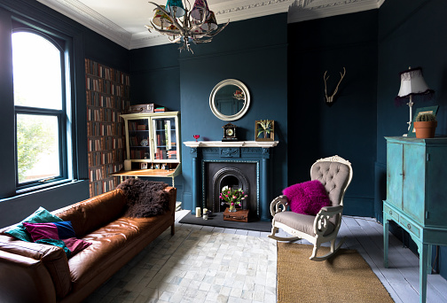 Victorian Style「Fashionable vintage styled living room」:スマホ壁紙(6)