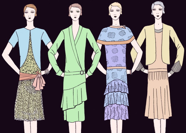 Pouring「Fashionable dresses  in spring 1928」:写真・画像(18)[壁紙.com]