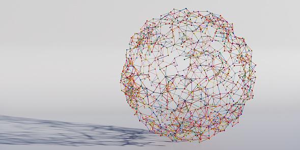 Big Data「Spherical Shape Made From Multi Coloured Balls and Sticks」:スマホ壁紙(0)