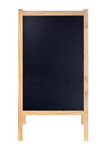 Square Shape「Blank Restaurant Menu Blackboard Sign Easel Frame with Copy Space」:スマホ壁紙(1)