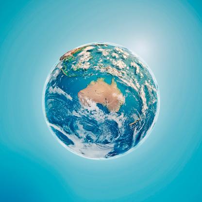 Digital Composite「Australia 3D Render Planet Earth Clouds」:スマホ壁紙(12)