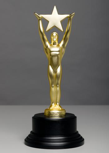 Male Likeness「Star Trophy on Gray Background」:スマホ壁紙(17)