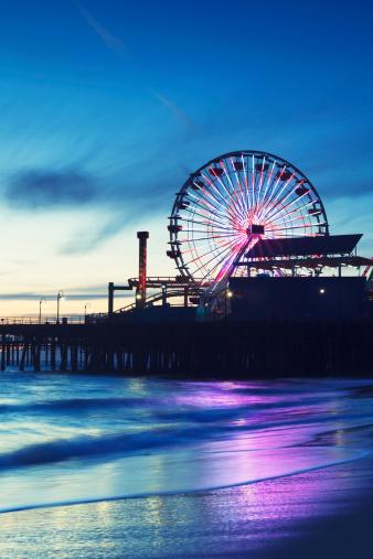 Pier「Santa Monica Pier with Ferris Wheel」:スマホ壁紙(13)