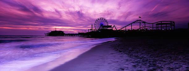 Santa Monica Pier Panorama, Toned:スマホ壁紙(壁紙.com)