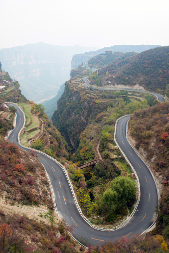 Hairpin Curve「Henan linzhou city grand canyon switchbacks」:スマホ壁紙(14)