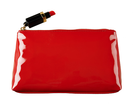 Clutch Bag「A cut out beauty product image of a red handbag or make-up bag」:スマホ壁紙(3)