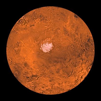Escarpment「Mare Australe region of Mars.」:スマホ壁紙(10)