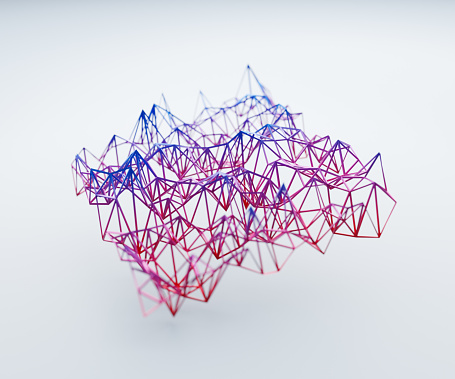 Abstract Backgrounds「Abstract wireframe structures」:スマホ壁紙(15)