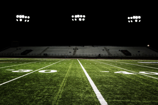 Yard Line - Sport「Football Field at Night」:スマホ壁紙(1)