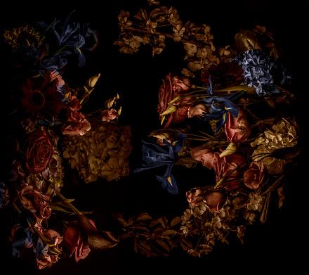 Contrasts「Flower arrangement, shot from above」:スマホ壁紙(18)