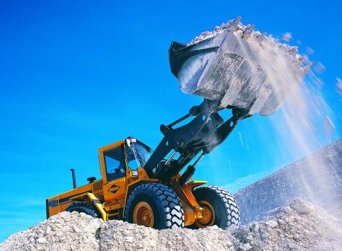 Construction Vehicle「Backhoe lifting rubble」:スマホ壁紙(9)
