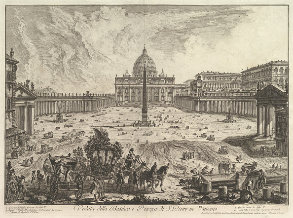 バシリカ「View Of St Peters Basilica And Piazza In The Vatican」:写真・画像(16)[壁紙.com]