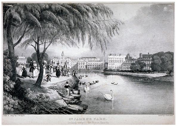 Recreational Pursuit「View of St James's Park and Buckingham Palace, Westminster, London, c1830. Artist: Thomas Mann Baynes」:写真・画像(16)[壁紙.com]
