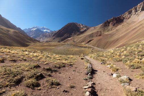 アコンカグア山「Path in los Horcones valley, Aconcagua, Argentina」:スマホ壁紙(12)
