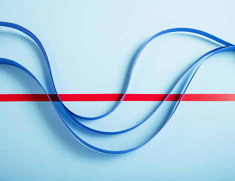 Hope - Concept「Blue paper line graph」:スマホ壁紙(12)