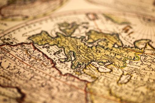 Burnt「Ancient Europe World Map」:スマホ壁紙(19)