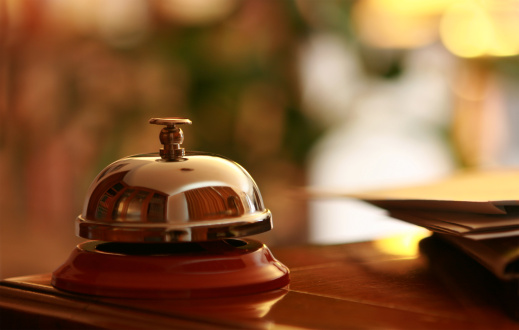 Business Travel「Service Bell in the hotel reception」:スマホ壁紙(8)