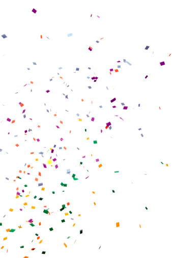 Clipping Path「Paper Confetti Falling, Isolated on White」:スマホ壁紙(16)