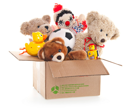 Giving「Donation Box with Teddy Bear, Robots and Toys」:スマホ壁紙(7)