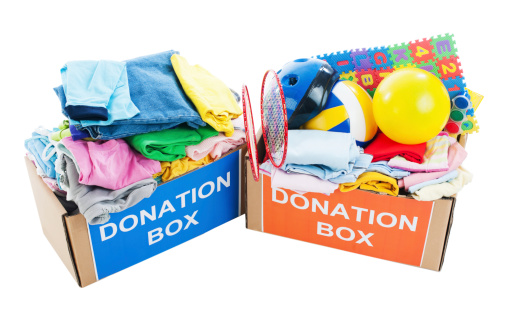 Sweatshirt「Donation boxes full of clothes and toys.」:スマホ壁紙(4)